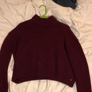 Turtleneck cropped sweater